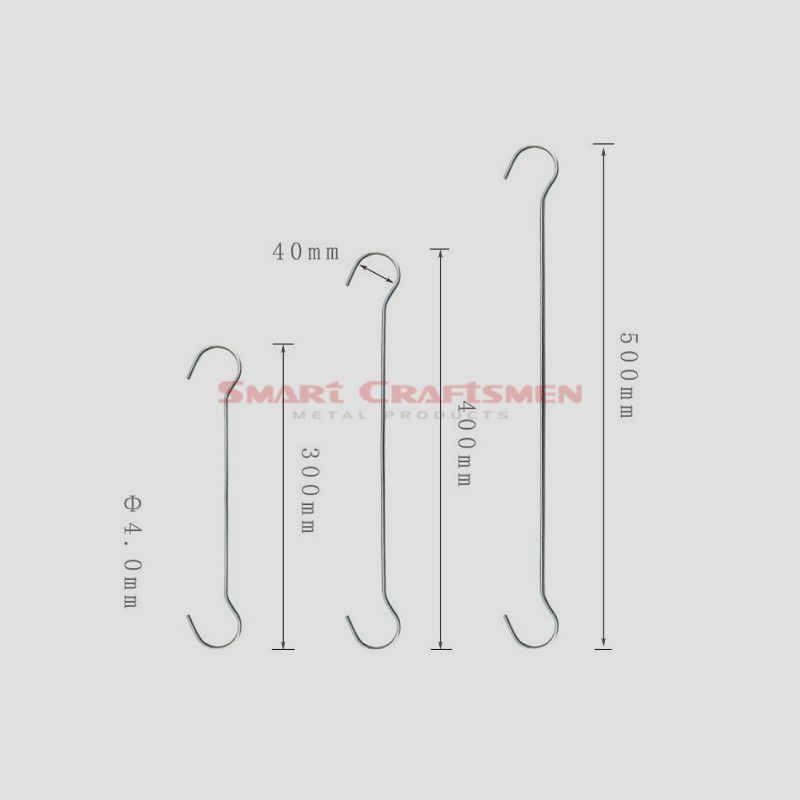 Metal Double C Display Hook Hang Wire, Ceiling Hook, Ceiling Sign & Banners Holder