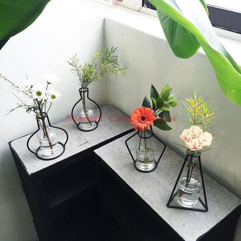 Iron Metal Plant Stand Flower Vase Holder